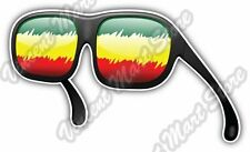 "Rasta Flag Summer Fashion Sunglasses Car Bumper Vinyl Sticker Decal 5""X3.5"""