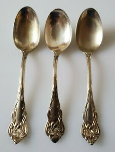 American Silver Company Silverplate Teaspoons Nenuphar Art Nouveau