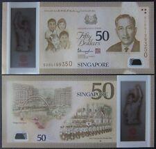 SG50 2015 SINGAPORE PORTRAIT POLYMER 50 DOLLARS W/1 STAR P-61 UNC NR