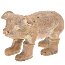 Pig in Rain Boots  Resin Outdoor Garden Statue Yard Decor Cute Accent