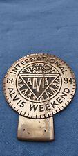 ALVIS INTERNATIONAL BRASS BADGE1994