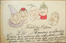 Chinese/Russian/Clown Easter Eggs 1900 Embossed Postcard - China/Russia