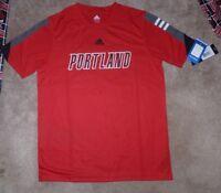NEW ADIDAS Portland Trail Blazers Basketball T Shirt Youth Boys L Large 14  16 NW 9aeb1f6e3