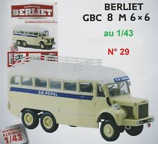 n° 29  BERLIET GBC 8 M 6x6     S.N. REPAL  1/43 Neuf en Boite