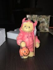 "Cherished Teddies ""Devil Suit with Pumpkin�"