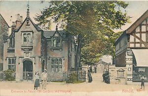 Postcard  Kendal cumbria Abbot hall entrance  and  hospital 1905 23