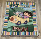 Vintage Tapestry Acrylic Dora The Exsplorer Bed Throw Wall Hanging 57 x 49 in