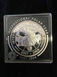 Korea 🇰🇵 2007 1000 Won Silver Coin International Polar Year Unc Proof Capsule