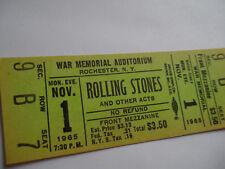 ROLLING STONES Original 1965__UNUSED__CONCERT TICKET__Rochester, NY__NM-!!