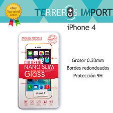 Protector Cristal Templado 0.3mm y bordes redondeados 2.5D iPhone 4 4S
