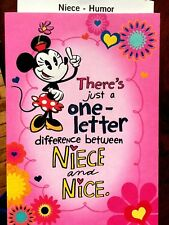 HALLMARK NIECE Birthday Card Greeting Card Funny Humor Minnie Mouse, DISNEY