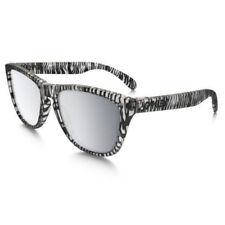 Oakley Frogskins Sunglasses OO9013-70 Matte Clear Frame W/ Chrome Iridium Lens