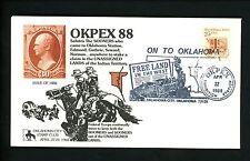 US Postal History Railroad Train Pictorial Free Land 1988 Oklahoma City OK
