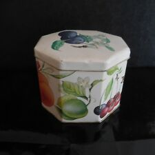 Boite fruits fleurs Container made in England vintage art déco PN France N2960