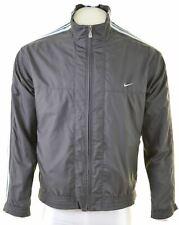 NIKE Mens Tracksuit Top Jacket UK 41/43 Large Grey Nylon  LX01