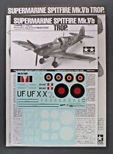 TAMIYA 1/48th SUPERMARINE SPITFIRE MK.Vb TROP Decals from Kit No. 61035