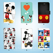 Mickey Mouse Wallet Case Cover Samsung Galaxy S3 4 5 6 7 8 Edge Note Plus 049
