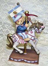 Cherished Teddies Carousel Horse and Bear Patriotic Theme 1998 ENESCO MIB
