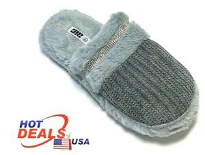 Woman Winter Warm Sandal House Indoor Cotton Slippers Home Fur Shoes Soft