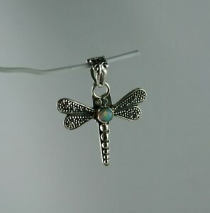 Sterling Silber Anhänger Libelle mit Opal aus Äthiopien