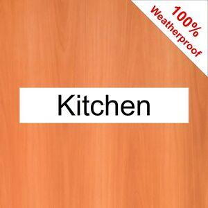 Küchentür Schild Oder Aufkleber 5509BKW Easy Auftragen Stickon Aufklebbar Tür