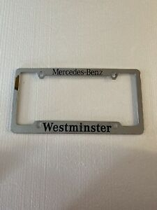 Vintage Mercedes-Benz Westminster License Plate Frame Metal