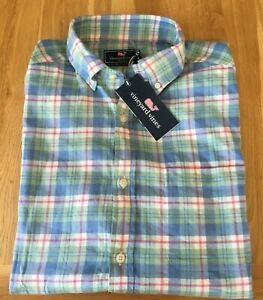 Vineyard Vines Men's Atlantic Coast Beach Flannel Murray Shirt (classic fit - M)