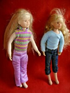 "2 OHC Only Hearts Club  9"" Cloth bendable Dolls 2004"