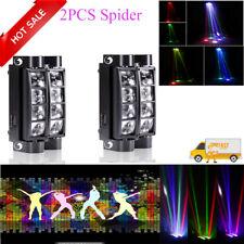 2X  LED RGBW DMX Spider Moving Head Lighting Stage Beam Light Lamp Club Disco DJ