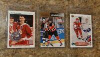 (3) Scott Niedermayer 1990-91 Upper Deck 1992-93 Calder Rookie Card lot RC HOF