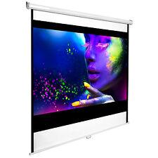 "Pantalla para proyector 152x152 84"" lienzo de proyección 16:9 4:3 HD desplegable"