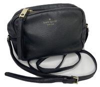 Kate Spade Crossbody Bag Camera Shoulder Purse Pebble Leather Black Adjustable