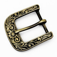 Men Copper Western Pin Buckle Belt Buckles Retro Buckles for Belt Width 3.8 cm