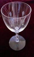 "ONE (1)  Fostoria HERALDRY 6 7/8"" WATER Goblet Glass- #6012 Cut 743"