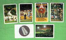 #D411.  4. SIX(6) 1985-86 DOUBLE TROUBLE CRICKET CARDS, #25, 30, 32, 56 & 59