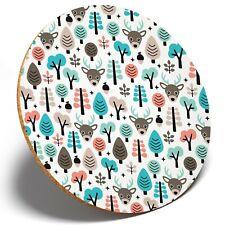 1 x Cute Woodland Pattern Animals - Round Coaster Kitchen Student Kids Gift 2298