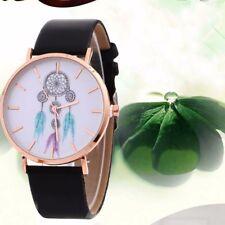 Fashion Wind Chimes Pattern Belt Womens Watch Leather Band Quartz Wrist Watch