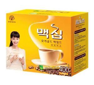 Korean Instant Coffee Mix Maxim Mocha Gold Mild 6/10/20/50/100/210/400 Sticks