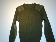GENUINE USMC MARINE CORPS COLD WEATHER 100% WOOL SWEATER GREEN SIZE 38 SMALL G-5