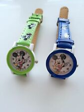 Children Kids boy Mickey Mouse Synthetic Leather Wrist Watch Birthday Gift him