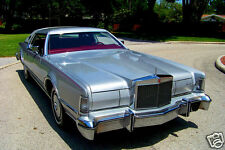 1976 Lincoln Continental MARK IV CARTIER, SILVER, Refrigerator Magnet, 40 Mil