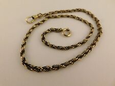 """Byzantine Rope 15"""" Long 3Mm Wide 12K Gold Filled Watch Chain Vintage Antique"""