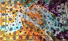 "Altar Cloth/Wicca/Pagan/Sarong/Tapestry/Scarve Tie Dye Zodiac 42""x 68"" SCV129"