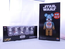 Lot 2 Medicom Be@rbrick Star Wars BB-8 400% Stormtrooper 5pcs 100% Bearbrick
