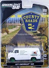 GreenLight 1977 Chevrolet G20 Green Machine County Roads #29730 New 8+ 1:64 #18