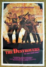 """THE DESTROYERS"" This WAR is in your own Backyard - aka ""The Devastator"" poster"