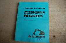 MITSUBISHI MS580 Excavator Trackhoe Crawler Parts Manual book catalog list 1983