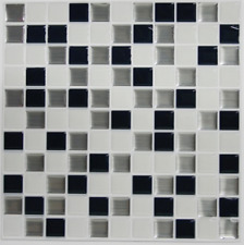 RoomMates StickTILES Metallic Checkerboard Peel Stick Backsplash Tiles 4 pc Pack