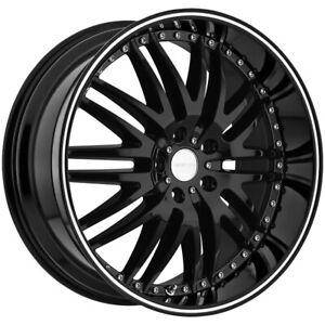 "Menzari Z04 M Sport 20x8.5 5x115 +35mm Gloss Black Wheel Rim 20"" Inch"