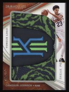 2019-20 Cameron Johnson Panini Immaculate Sneak Peak Shoe Tongue Logo Rc #1/1